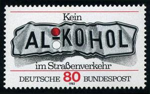 Germany 1376, MNH. Don't Drink and Drive, 1982