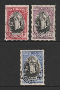 Tonga the 1938 Accession set used