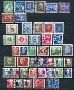 Germany 1952 Mi 298-341 MH Complete Year (-1 stamp) 2500