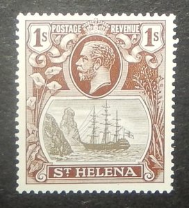 St. Helena 87. 1922 1/- Dark brown and black Badge of the Colony