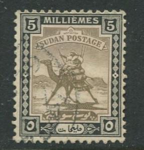 Sudan -Scott 40 - Camel Post - 1927 - Used - Single 5m Stamp