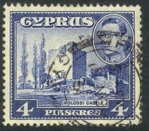 CYPRUS 1951 KGVI 4pi KOLOSSI CASTLE Scott No. 166 F-VF Used