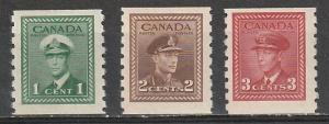 #262-65 Canada Mint OGNH Coils George VI