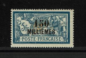 French Offices in Egypt SC# 61 Mint Hinged / Sm Hinge Rem / Light Crease - S3430