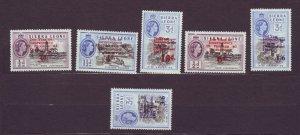 J22694 Jlstamps 1963 sierra leone set mnh #242-7 ovpt,s
