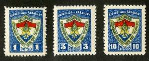 PARAGUAY 338-40 MH BIN $.75