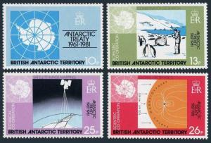 BAT 82-85,MNH.Michel 84-87. Antarctic Treaty-20,1981.Map,Penguins.