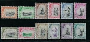 SWAZILAND SCOTT #55-66 1956 QEII PICTORIALS  - MINT LIGHT  HINGED