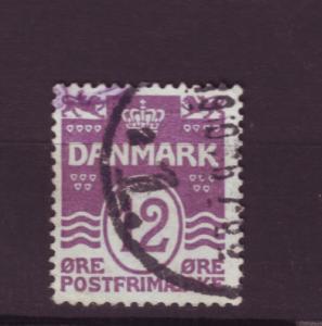 J3210 JL stamps 1913-30 denmark used #96 $9.75v violet