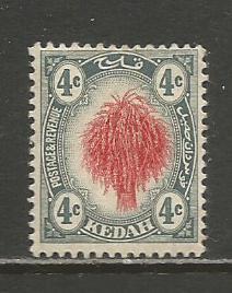 Malaya-Kedah   #6  MHR  (1912)  c.v. $12.00