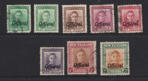 New Zealand a small lot of used KGVI Officials
