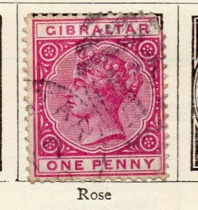 Gibraltar 1886 Early Issue Fine Mint Hinged 1d. NW-114714