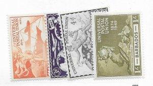 Barbados #212-215 MH - Stamp - CAT VALUE $4.15