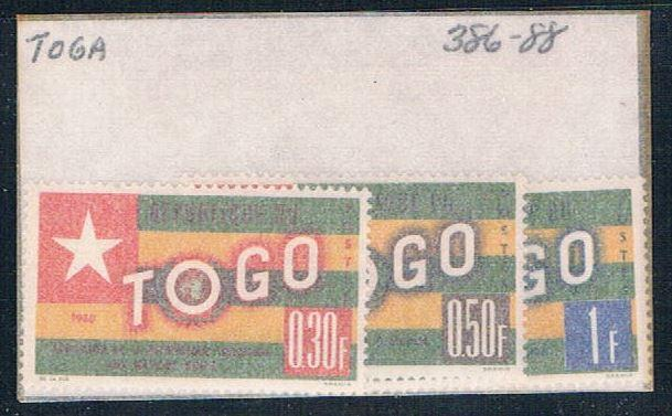 Togo 386-88 Unused Flags 1961 (T0062)