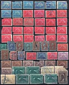 Revenue Stamps: 61 Stamps (1862) Used/All with Faults