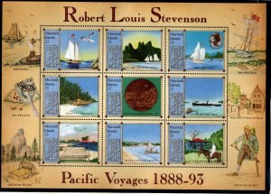 Marshall Islands Scott 190 MNH** Robert Louis Stevenson Souvenir sheet