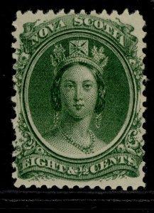 CANADA - Nova Scotia QV SG26, 8½c deep green, M MINT. Cat £23. WHITE PAPER