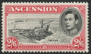 ASCENSION-1938-53 2/6 Black & Deep Carmine Perf 13½ Sg 45 gum toning MM V46285