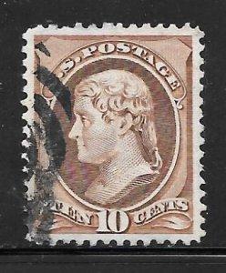 USA 150: 10c Jefferson, used, VF, light cancel