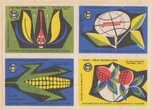Czechoslovakia Block of 4 Advertising Stamps Agricultural Marketing & Supply Co.