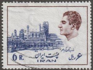 Persian stamp, Scott# 1836, Used, hinged, Shah in brown