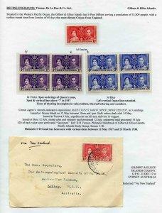 Gilbert and Ellice Islands 1937 Coronation Page