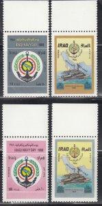 Iraq, Sc 1349-1352, MNH, 1988, Navy Day