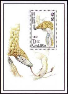Gambia WWF Long-tailed Pangolin Miniature Sheet SG#MS1499 MI#Block 187