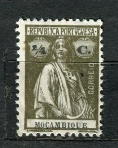PORTUGUESE; MOCAMBIQUE 1914-20s early Ceres issue Mint hinged 1/4r. value