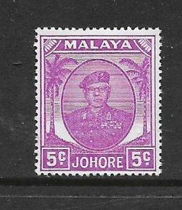 JOHORE, 134, MNH, SULTAN IBRAHIM