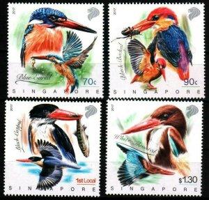 Singapore 2017 birds animals fauna insects fish set MNH