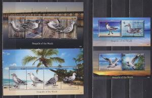 Grenada 2014 seaguuls birds fauna 2klb+2s/s MNH