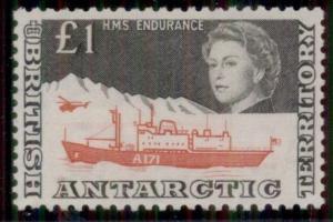 BRITISH ANTARCTIC TERRITORY #24, £1 black & rose red, og, VLH, VF, Scott $160.00