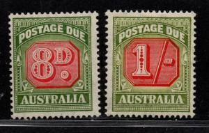 $Australia Sc#J79-80 M/H/F-VF, part set, Cv. $55