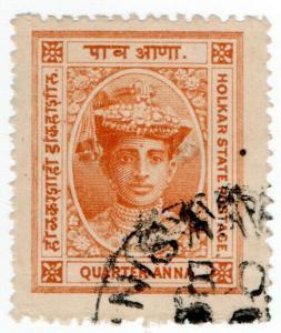 (I.B) India (Princely States) Postal : Holkar ¼a