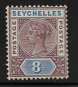 SEYCHELLES, 6,  HINGED, QUEEN VICTORIA