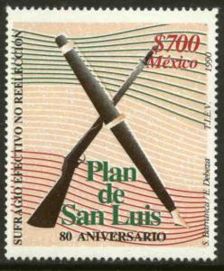 MEXICO 1666, Plan de San Luis 80th Anniversary. MINT, NH. VF.