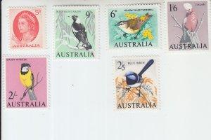 1964 Australia Birds  (Scott 366-71) MNH