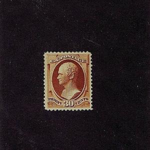 SC# 217 UNUSED ORIGINAL GUM HINGED 30 CENT HAMILTON, 1888, PF & PSE CERTS