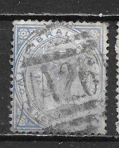 Gibraltar, 14a, Queen Victoria Single,**Used** (z2)