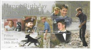2000    CAYMAN ISLANDS  -  SG.  MS 932  -  PRINCE WILLIAM'S BIRTHDAY -  MNH