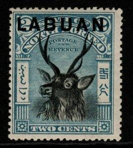 LABUAN SG90 1897 2c BLUE MTD MINT