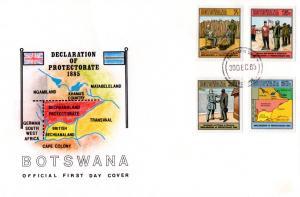 Botswana - 1985 Centenary of Protectorate FDC SG 590-593