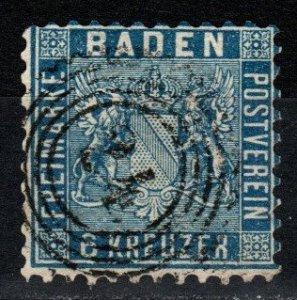 Baden #16 F-VF Used   CV $235.00 (V5357)