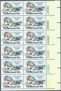Glenn Curtis Aviation Pioneer stamps Scott C100 1980 MNH Airmail 35c PB# 12