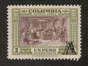 Colombia, Scott #C213, Unused, Hinged