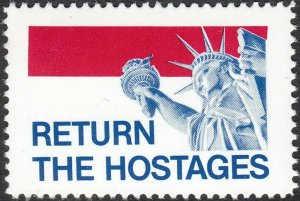 Stamp Label USA 1980 Poster Cinderella Return the American Statue of Liberty MNH