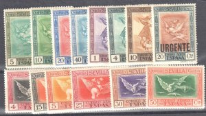 Spain 1930 Goya Airmail set Sc# C18-30 + #CC1 mint LH