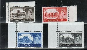 Great Britain #371 - #374 Very Fine Never Hinged Set