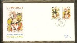 1995 - Rep. Surinam FDC E189 - Art - Paintings - Corneille [LN034]